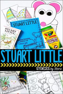 Stuart Little is a small mouse on a big adventure!  This book companion has comprehension questions, vocabulary practice, graphic organizers, and a mouse craft.