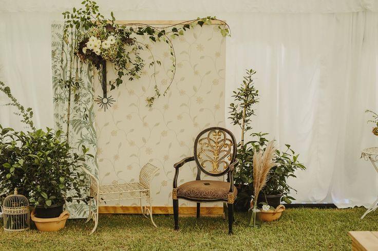 Photo Back Drop by Susi Liddington Creative at Liddington Gardens Wedding. Photography Danelle Bohane