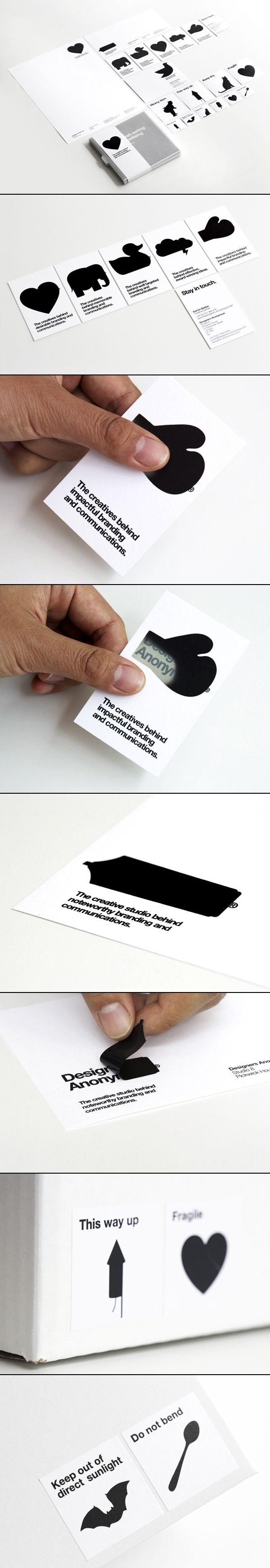 Designers Anonymous #branding #identity #design ...clever ideas and word/image associations. Bit too tongue-in-cheek for us maybe!