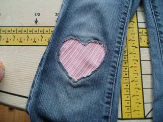 heart knee patch