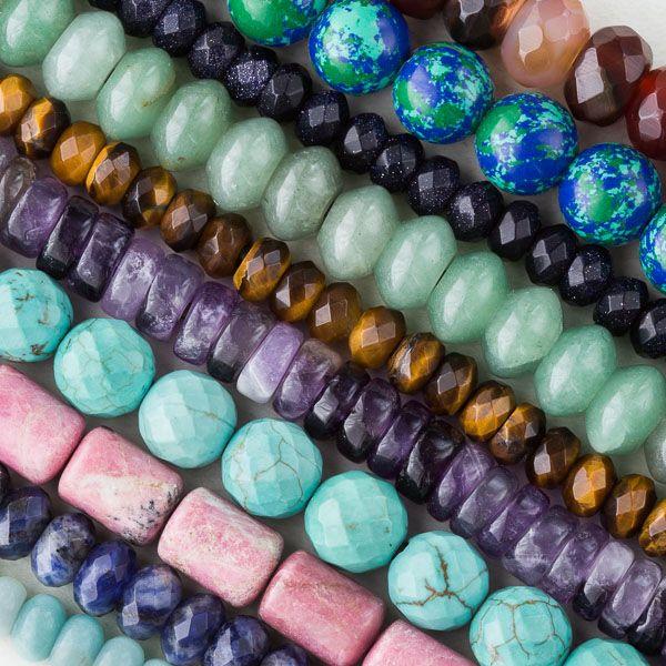 Large Hole Gemstone Beads from Cherry Tree Beads