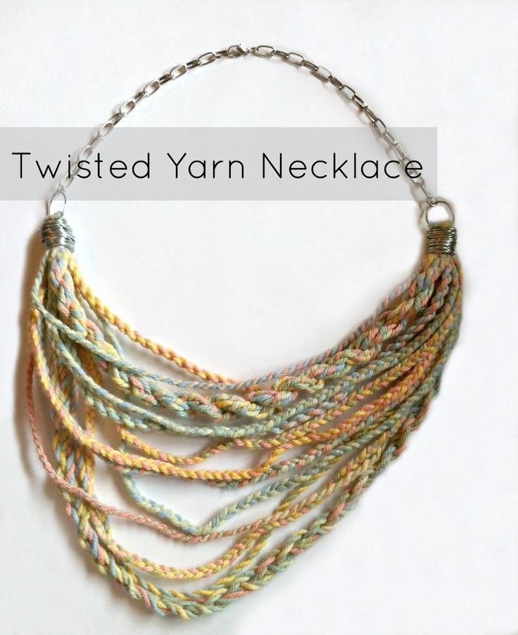 Yarn Necklace; would make cute multi strand bracelet on the cheap