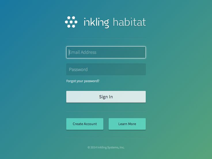 A sneaky peek of Inkling Habitat's new sign in page.