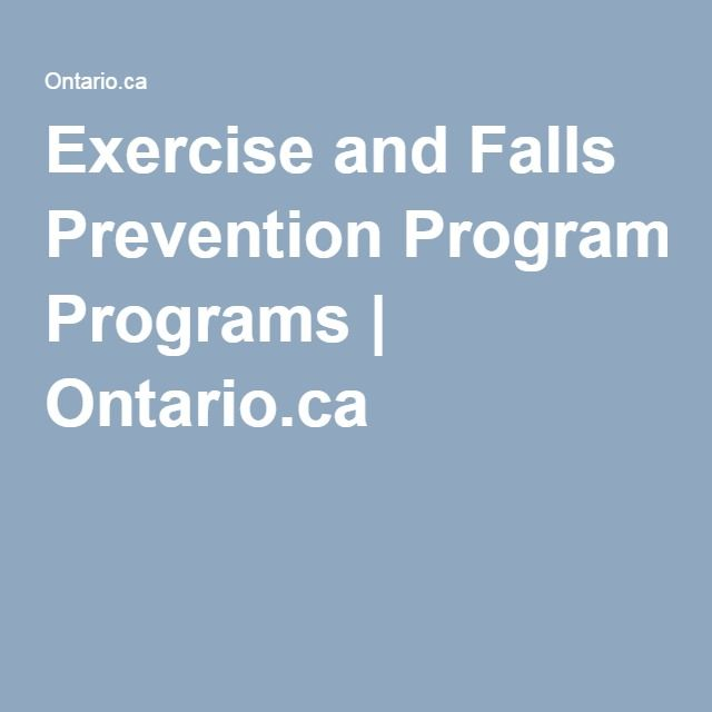 Exercise and Falls Prevention Programs | Ontario.ca