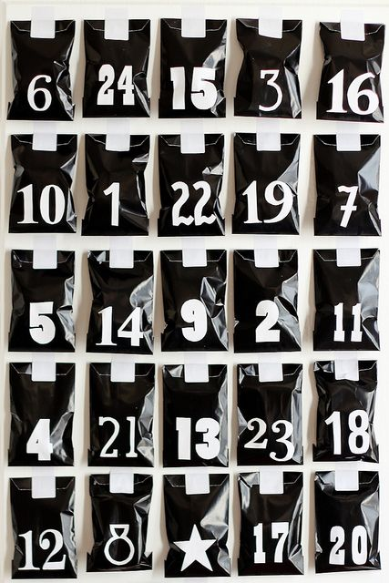 DIY advent calendar by Morning by Foley, via Flickr + free download