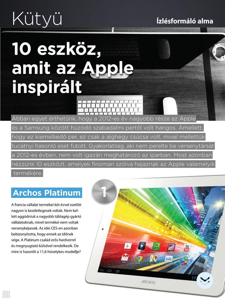 Inspriráló alma. 10 kütyü, ami máshogy nézne ki vagy nem is létezne az Apple nélkül.