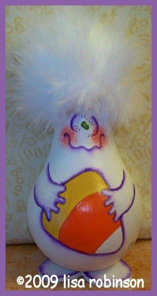 pdf ePattern HaLLoWeEn GHOST recycled light bulb fALL by primchick, $7.50