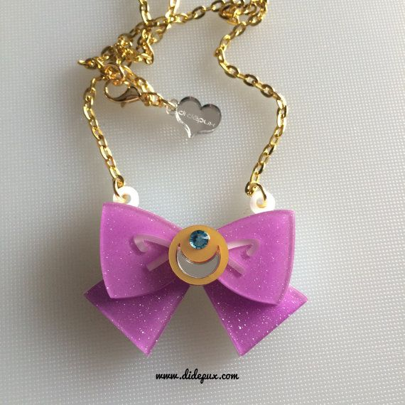 SAILOR MOON arco brillo lila corte collar por didepux en Etsy