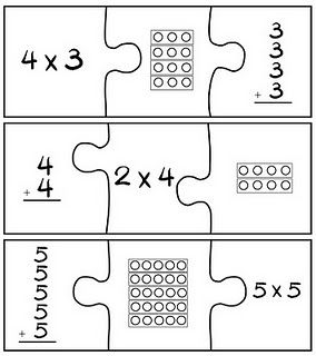 Puzzle concept for building math skills... this idea is easy to adapt for your teaching needs!