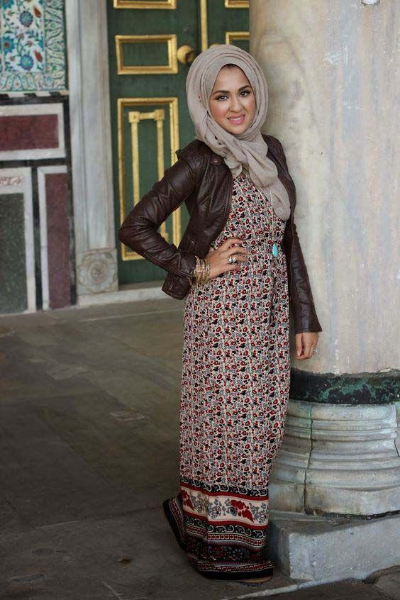 Maxi dress hijab 89