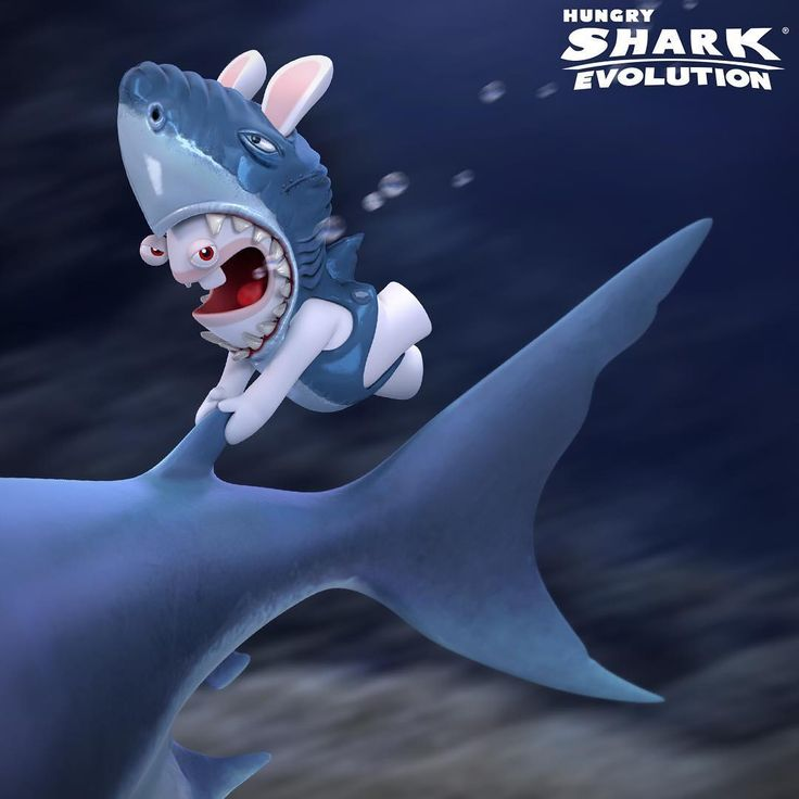 """Brace yourselves! It's soon gonna be chaos underBWAAAter! #HungryShark #HungryRabbids #fgol…"""