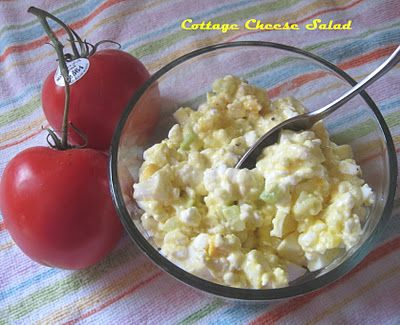 Cottage Cheese And Egg Salad, I'm going to make this tonight!!!!