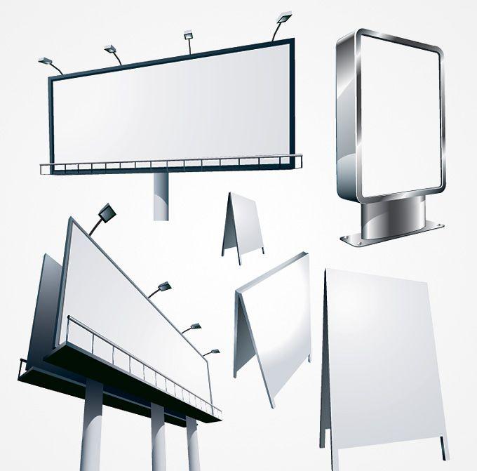 Free Billboard Vector Template #vector #freevector #billboard
