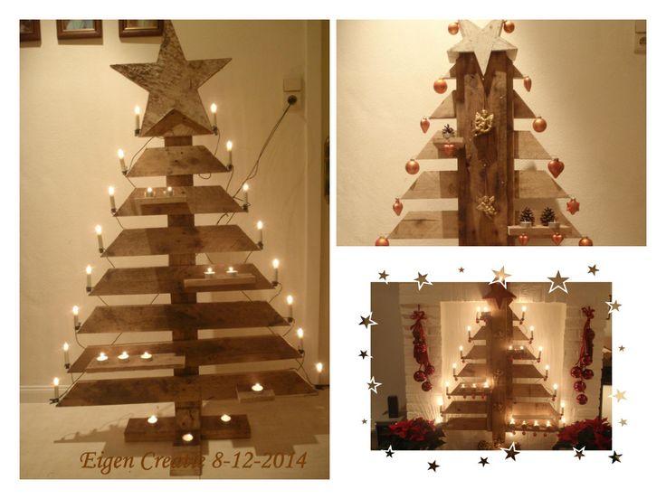 kerstboom uit europallet