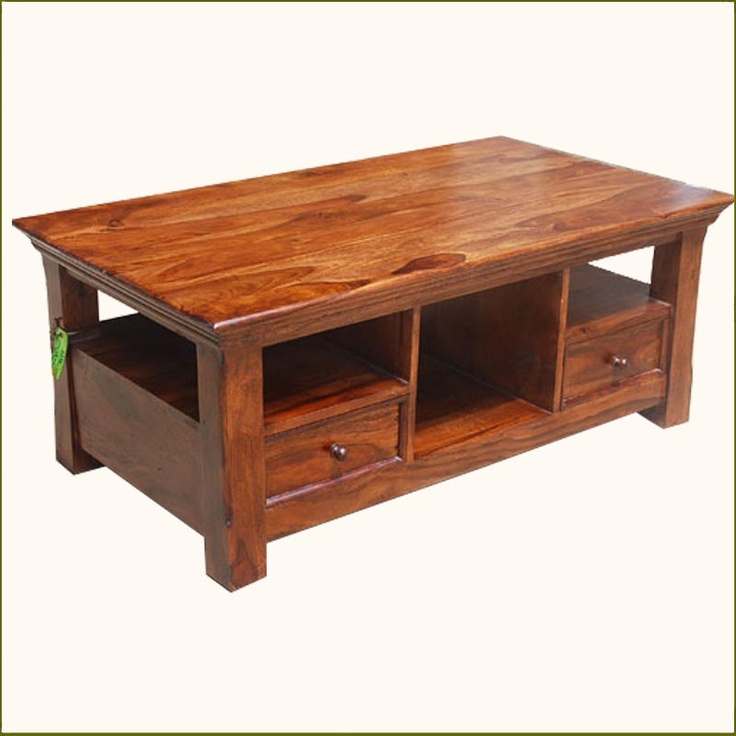 Rustic Mission Santa Cruz Solid Wood Dining Room Set For 4: Best 20+ Coffee Table With Drawers Ideas On Pinterest