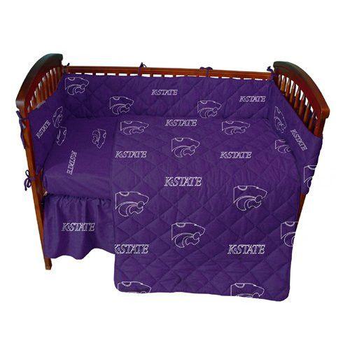 Kansas State Wildcats NCAA Baby Crib Set (Rotary-Solid)