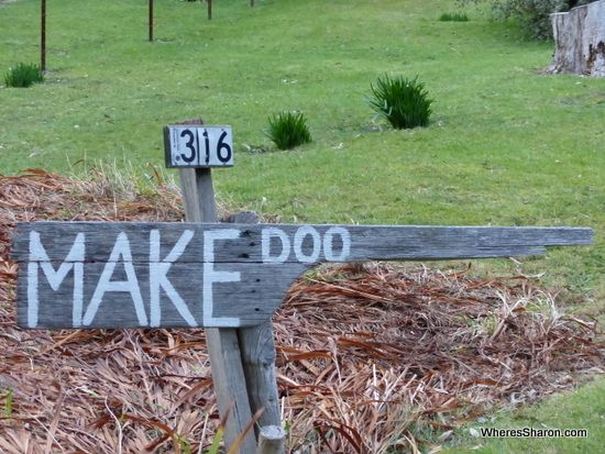 """Doo Town is a small town located in Tasmania's Tasman Peninsula.  This quirky town is famous for having homes named with the word """"Doo"""". It is amazing how many names they have come up with!"""
