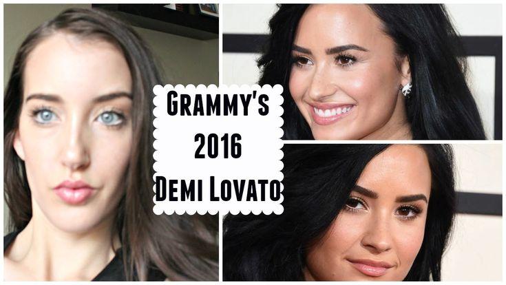 Demi Lovato Make up Tutorial  The Grammys 2016