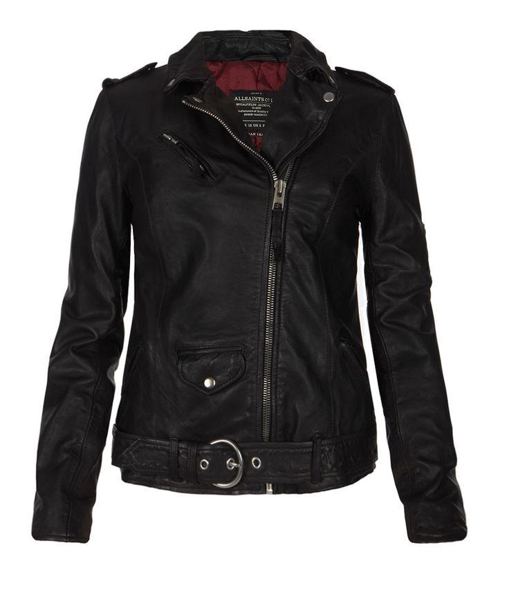 Valley Biker Jacket, Women, Leather, AllSaints Spitalfields