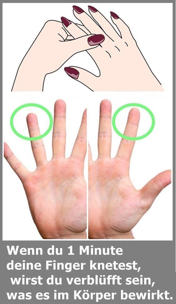 Wenn du 1 Minute deine Finger knetest, wirst du verblüfft sein, was es im Körp…