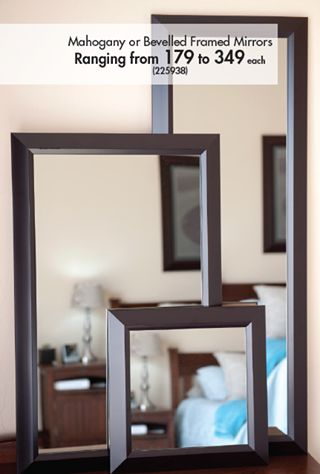 If you love these framed mirrors, then we suggest you get down to Makro now! Their new home catelogue has tons of amazing deals for your home. Take a peek - http://ow.ly/DoBms