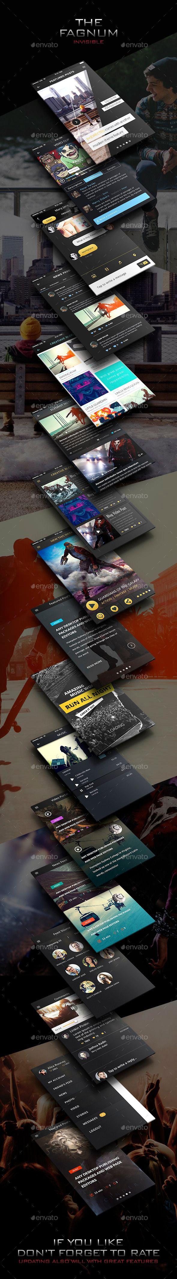 Invisible - Mobile UI Template