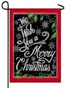 Chalkboard Merry Christmas Garden Flag
