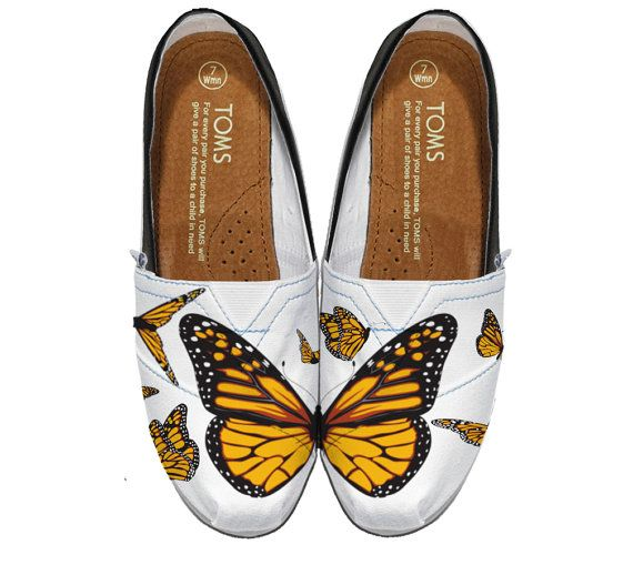Monarch Butterfly Styled TOMS Shoes Design
