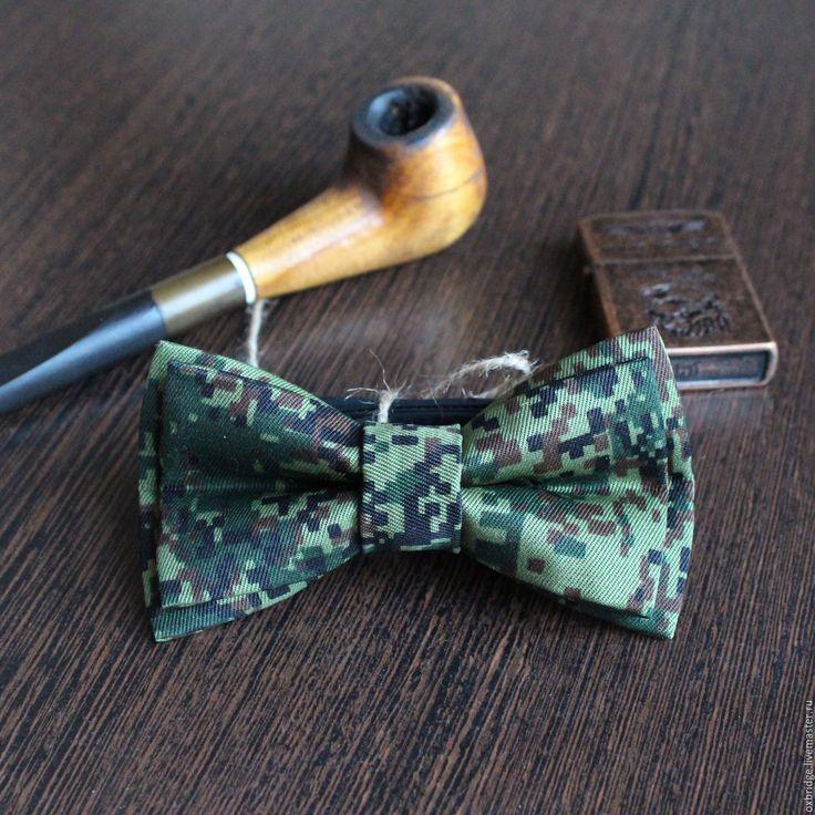 Купить Галстук бабочка Милитари / Бабочка галстук / Бабочка цвета хаки
