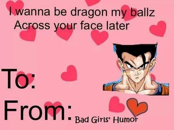 Dragon Ball Valentine Day Card Hilarious Dragon Balls