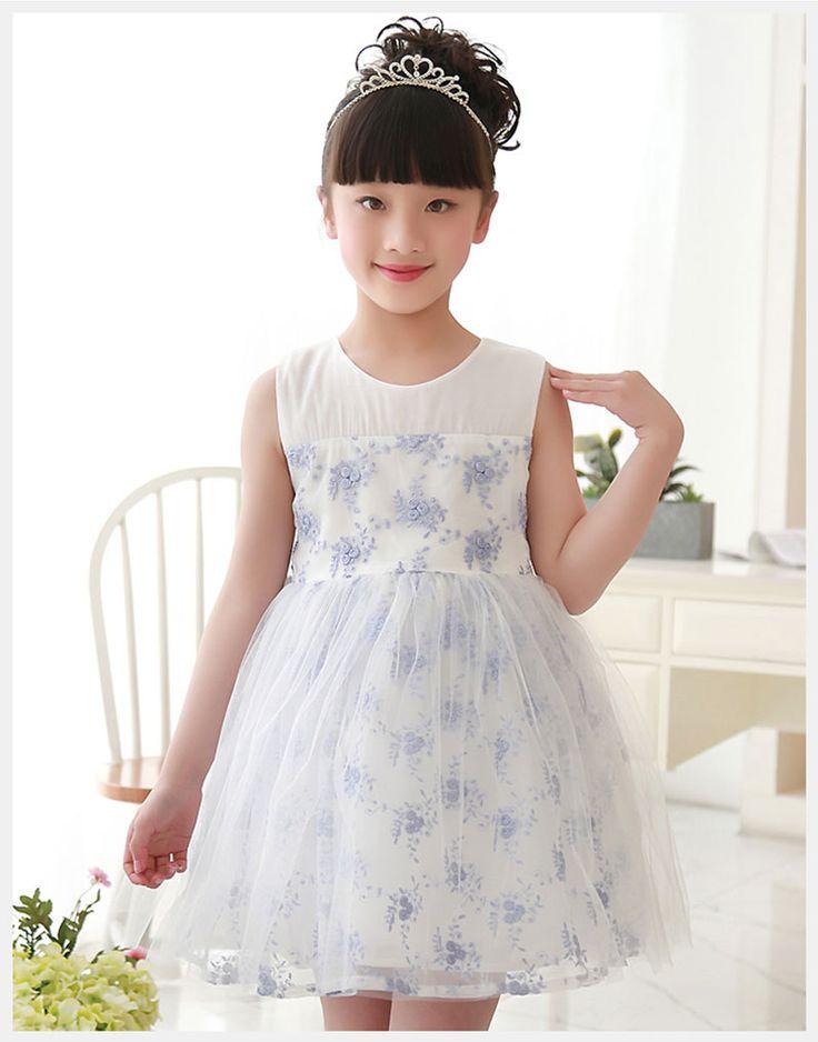 2017新しいデザイン安いピンク青花女の子のドレスでレースアップリケショートドレス用リトルガールページェントガウン