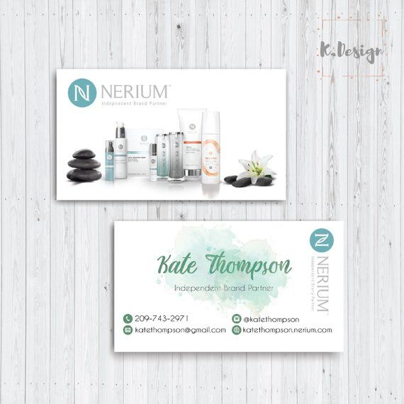 Personalized Nerium Business Cards Nerium Marketing Card Nerium Leaf Card Printable File Custom Business Card Ne07 Leaf Cards Custom Business Cards Cards