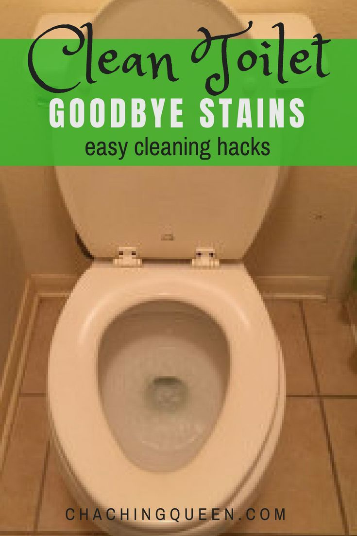 How to Clean a Toilet and How to Remove Hard Water Stains | Clean ...