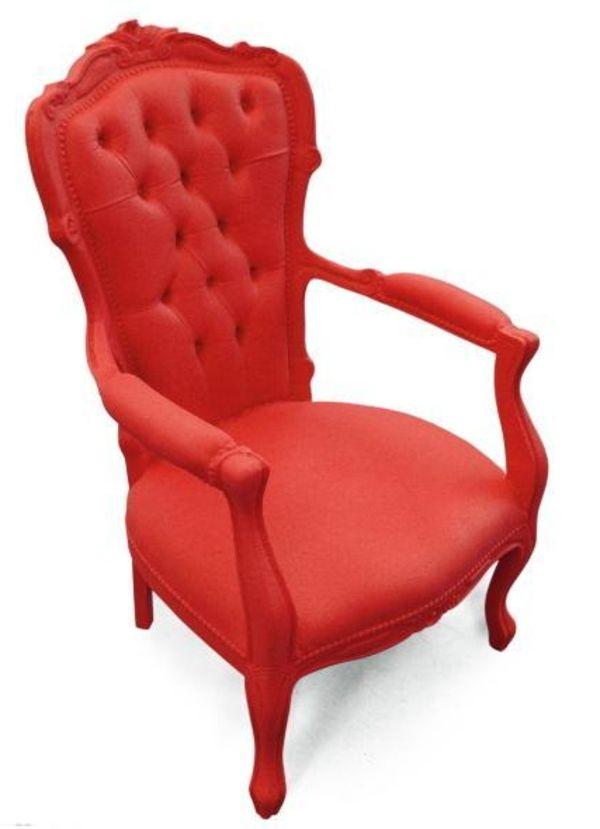 un fauteuil voltaire tout rouge - x2 pour les mariés