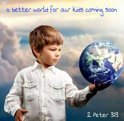 A better world for our kids is coming - soon!   Jesus' name means: 'JEHOVAH is Salvation.' (The Catholic Encyclopaedia 1913 vol. viii p. 329) Jehovah is the Father and God of Christ Jesus (Please read Psalm 83:18; Luke 1:32; John 20:17)  For truth please visit JW.ORG