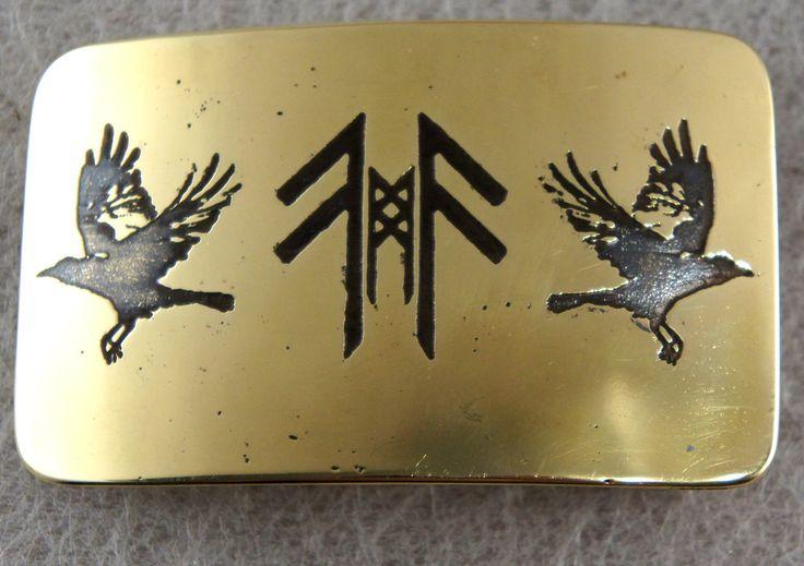 Huginn and Muninn brass belt buckle by TimforShade on DeviantArt