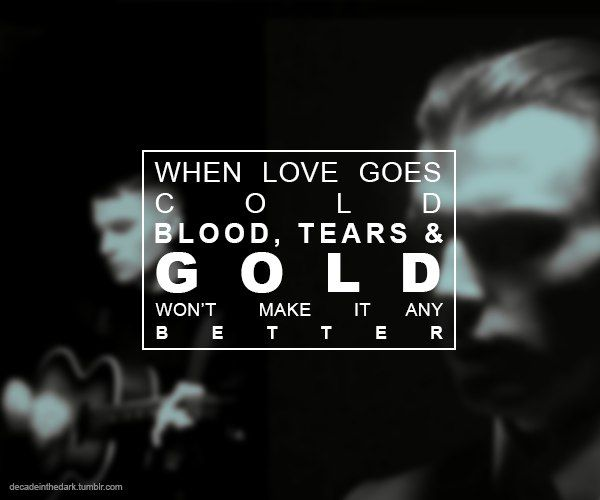 Blood tears and gold