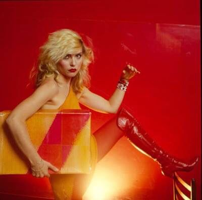"""The ageless Debbie Harry performing John Lennon and Yoko Ono's """"""""Happy Xmas (War Is Over)"""" with the Middlechurch East Village Gospel Choir,"""