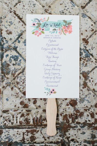 25 Best Wedding Ceremony Programs Images On Pinterest