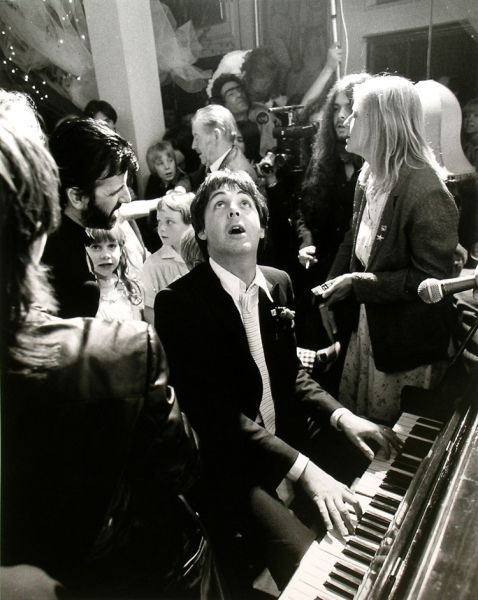 Paul McCartney at Ringo Starr's wedding (1981)