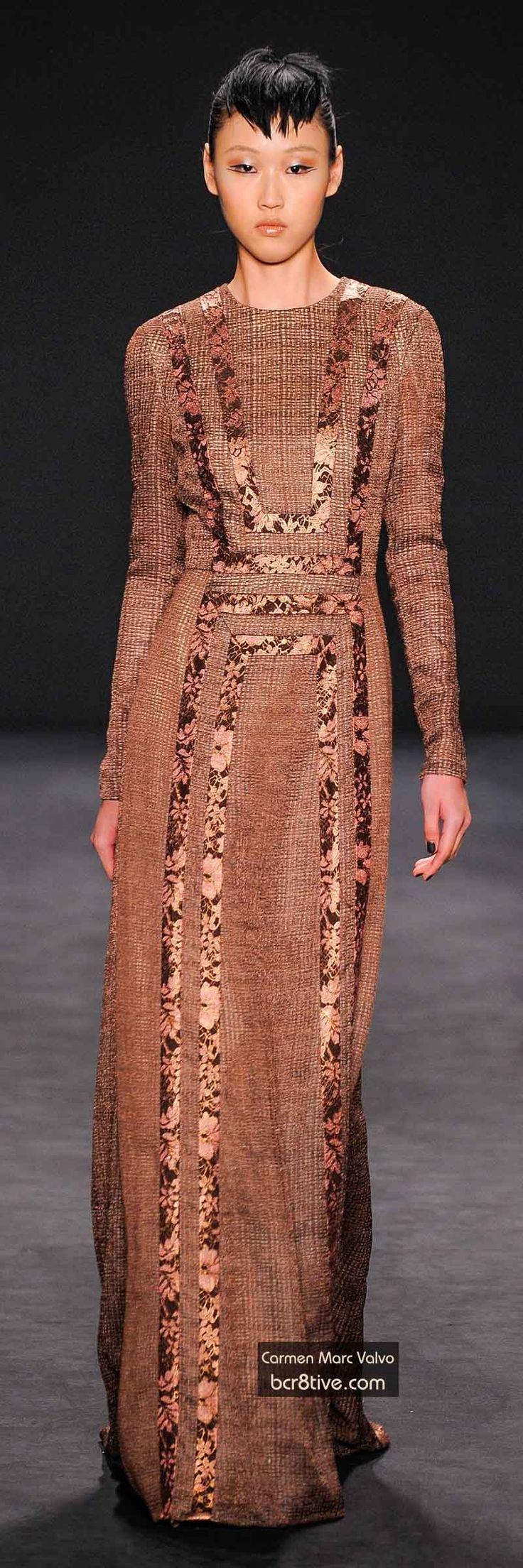 The Best Gowns of Fall 2014 Fashion Week International: Carmen Marc Valvo FW 2014 #NYFW