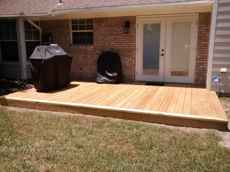 12 X14 Deck I Built Over A Cracked And Damaged Concrete