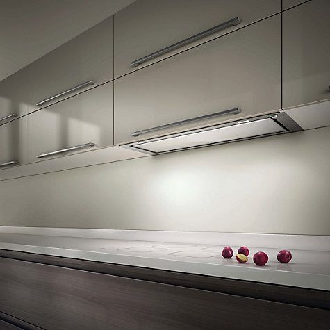 Buy Elica Hidden 120 Built-In Cooker Hood, Stainless Steel/ White Glass Online at johnlewis.com