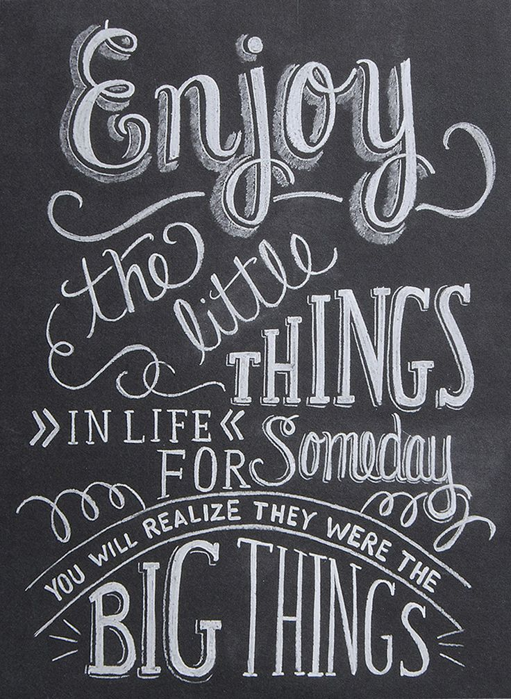 'Little Things' Wall Sign #quote #mothersday