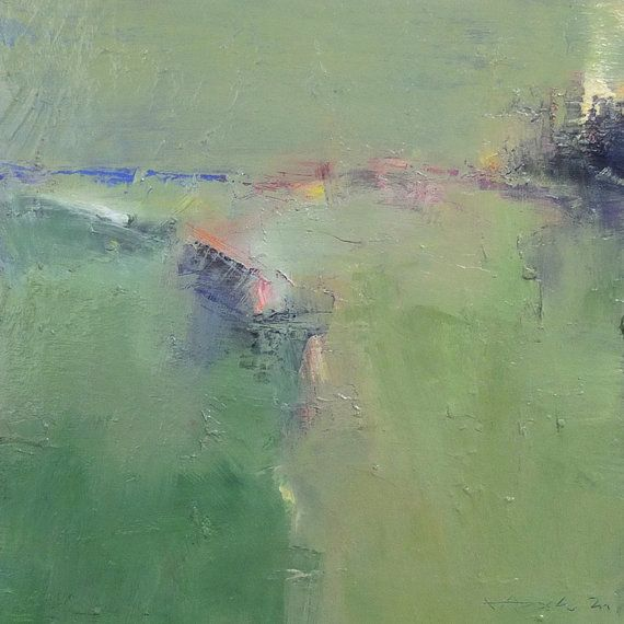Small Box Painting 1164 - Oil on panel - 22.7 cm x 22.7 cm (app. 8.9 inch x 8.9 inch)