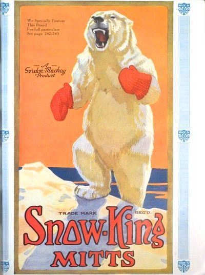 Vintage poster: Polar Bear Mitts - handle with care...