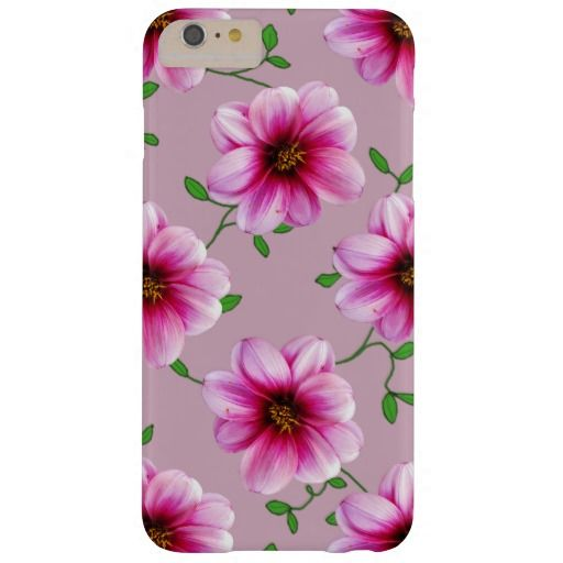 Garden Pink Dahlia Flower on any Color iPhone 6 plus Case