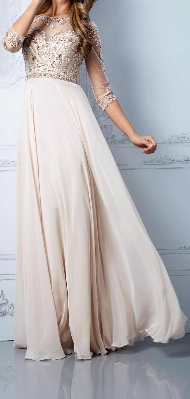 Blush gown / Terani  possible unique wedding dress http://www.pinterest.com/JessicaMpins/