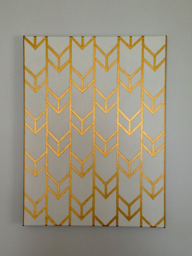 262334747019433965 Spray paint the canvas one color, tape a pattern, paint another color, and then remove the tape. Perfect artwork!