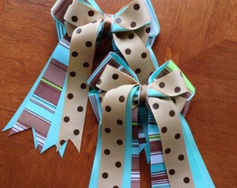 Equestrian Hair Bows for English Horse by BowdanglesShowBows